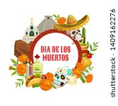 dia de los muertos  mexican day ...   Shutterstock .eps vector #1409162276
