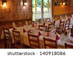 a table in a restaurant | Shutterstock . vector #140918086