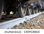 Railway Wheels On A Track...
