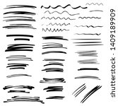 sketch brush strokes  underline ... | Shutterstock .eps vector #1409189909