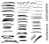 sketch brush strokes  underline ... | Shutterstock .eps vector #1409189909
