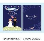 wedding card design for police   Shutterstock . vector #1409190539