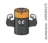 cartoon flexing muscular...   Shutterstock .eps vector #1409205173