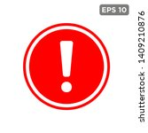 exclamation   caution icon... | Shutterstock .eps vector #1409210876