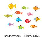 fish vector | Shutterstock .eps vector #140921368