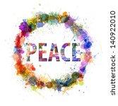 peace concept  watercolor... | Shutterstock . vector #140922010