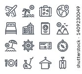 travel related bold line icon...