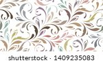 floral seamless pattern. plant... | Shutterstock .eps vector #1409235083