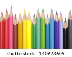 Color Pencils Isolated Over...