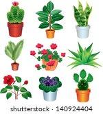 home plants vector set | Shutterstock .eps vector #140924404