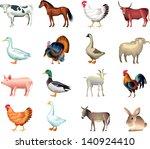 Farm Animals Vector Set