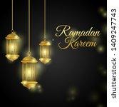 luxury ramadan kareem mubarak... | Shutterstock .eps vector #1409247743