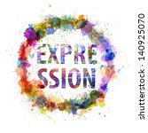 expression concept  watercolor... | Shutterstock . vector #140925070