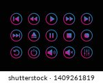 media player control icon. play ...