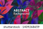 leaf background colorful... | Shutterstock .eps vector #1409268659