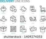 set of logistic icons  such as... | Shutterstock .eps vector #1409274353