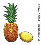 fresh fruit nutrition healthy... | Shutterstock .eps vector #1409279516