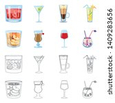 vector illustration of liquor... | Shutterstock .eps vector #1409283656