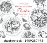 vector illustration sketch  ... | Shutterstock .eps vector #1409287493