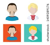 vector illustration of imitator ... | Shutterstock .eps vector #1409289176
