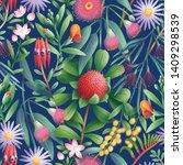 australian beautiful flora... | Shutterstock . vector #1409298539