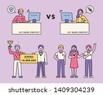 players playing online games ... | Shutterstock .eps vector #1409304239