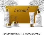 coconut cream product ads  tube ...   Shutterstock .eps vector #1409310959