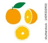 illustration of juicy orange...   Shutterstock .eps vector #1409333903