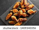 Grilled Chicken Wings On Black...