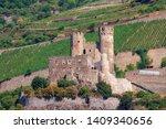 "The so-called castle ""Ehrenfels"" near Rüdesheim / Germany on the Rhine"
