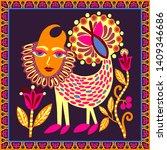 original ukrainian carpet... | Shutterstock .eps vector #1409346686