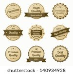 retro vintage labels set.... | Shutterstock .eps vector #140934928