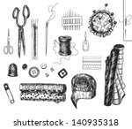 set of various hand   drawn... | Shutterstock .eps vector #140935318