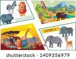 cartoon african safari concept...   Shutterstock .eps vector #1409356979