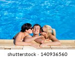 young peoples in the swimming... | Shutterstock . vector #140936560