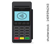 pos terminal or payment... | Shutterstock .eps vector #1409396243
