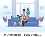 big family members gathered... | Shutterstock .eps vector #1409398670