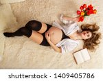 a beautiful young girl in the...   Shutterstock . vector #1409405786