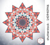 abstract vector round pattern.... | Shutterstock .eps vector #140940946