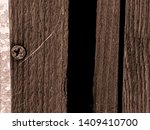 dark boards of an old village...   Shutterstock . vector #1409410700