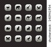 animal icons   buttons set