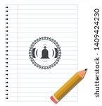 tombstone icon pencil strokes... | Shutterstock .eps vector #1409424230