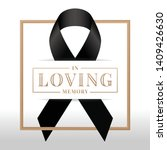 in loving memory text and black ... | Shutterstock .eps vector #1409426630