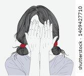 women put their hands off the...   Shutterstock .eps vector #1409427710