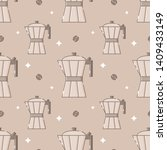 cute seamless pattern with... | Shutterstock .eps vector #1409433149