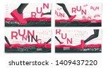 vector typographic running...   Shutterstock .eps vector #1409437220