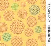 Vibrant Block Print Waffle...