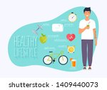 concept of healthy lifestyle... | Shutterstock .eps vector #1409440073