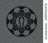 dead man in his coffin icon...   Shutterstock .eps vector #1409442476