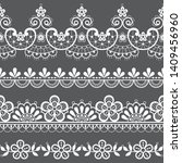 vintage lace seamless vector... | Shutterstock .eps vector #1409456960